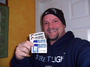 Artie Leonard & his credits for free wireless service!