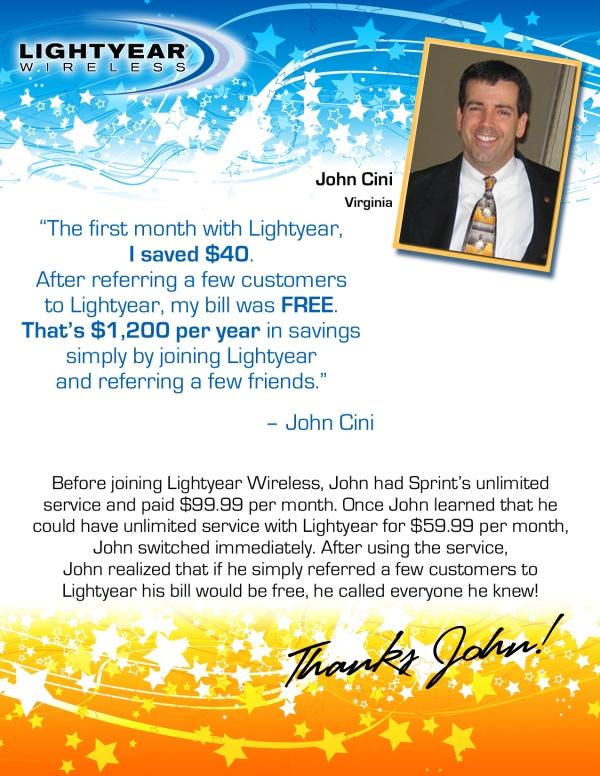 John saves $1200/year with LightYear!