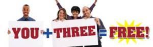 You+3=Free